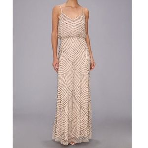 Adrianna Papell Art deco beaded gown Sz 6 NWT